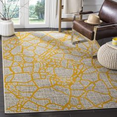 Find Safavieh Porcello Collection Light Grey Yellow Area Rug, x online. Shop the latest collection of Safavieh Porcello Collection Light Grey Yellow Area Rug, x from the popular stores - all in one Diy Carpet, Room Carpet, Modern Carpet, Carpet Ideas, White Carpet, Cheap Carpet, Magic Carpet, Yellow Rug, Yellow Area Rugs