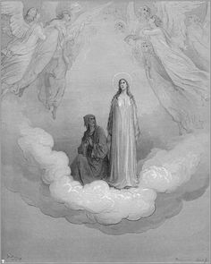 Dante and Beatrice - Paul Gustave Dore Gustave Dore, Dante Alighieri, Maleficarum, Illustrator, Dantes Inferno, Classical Art, Christian Art, French Artists, Religious Art