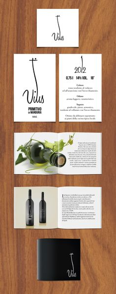 Logo, Label and Brochure of wine. Personal Project.