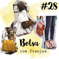 Post Top100 peças do meu estilo. Bolsa com franjas, looks lindos.  #blogdemoda #bolsa #franja