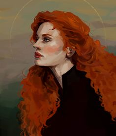 """girlandgeese: """"I got to paint @thelionandthelight's gorgeous Florence Cousland. (◕‿◕✿) [Message me or click here for commission info!] """" So beautiful I absolutely adore it! @girlandgeese was such a fab artist to work with, I definitely recommend her...."""