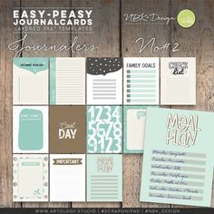 The individual layered Journalcards are great for your digital layouts and project life spreads.  #digiscrap #scrapbooking #mixedmedia #artjournaling #cardmaking #hybridscrap #scrapbookingideas #nbk_design #the_lilypad #artsy #photobook #fotobuch #projectlife #projectlifeapp #projectlife52 #documentyourlife #journalcards #templates #fillercards #cards #pocketpages Day Plan, Family Goals, Scrapbook Supplies, Journal Cards, Easy Peasy, Project Life, Photo Book, Spreads, Digital Scrapbooking