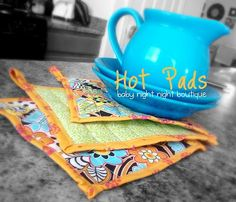 Super Easy Hot Pads - I Wash You Dry
