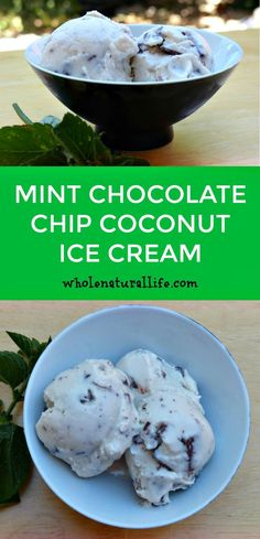 This mint chocolate chip ice cream is dairy-free, honey-sweetened, and suitable for the GAPS and Paleo diets. Make this easy coconut ice cream today! (food tips dairy free) Paleo Ice Cream, Dairy Free Ice Cream, Coconut Ice Cream, Ice Cream Recipes, Chocolate Chip Ice Cream, Mint Chocolate Chips, Chocolate Desserts, Healthy Chocolate, Coconut Recipes