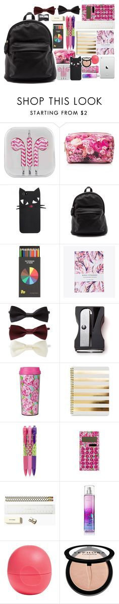 """""""What is in my backpack?"""" by isabelapbarreto ❤ liked on Polyvore featuring Forever 21, Nikki Strange, Monkey Business, Lilly Pulitzer, Vera Bradley, Kate Spade, Eos, Sephora Collection, BackToSchool and whatisinmybag"""