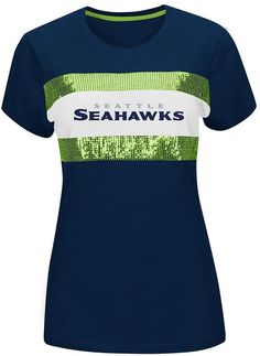 Majestic seattle seahawks sequin tee - women's on shopstyle.com