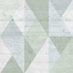 Superfresco Easy Narvik Green & Grey Geometric Block Wallpaper | Departments | DIY at B&Q