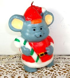 Vintage Bear Christmas Candle Holiday Decorative by VintageTinsel