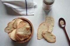 olive oil polenta crackers