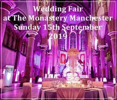 View details for wedding events at the Monastery Manchester, including times and exhibitors. Wedding Fayre, Wedding Events, Wedding Ideas, Spa Packages, Free Entry, Free Tickets, Manchester, Sunday, Bride