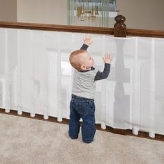 Clear Banister Guard Kit For Kids Safety From One Step