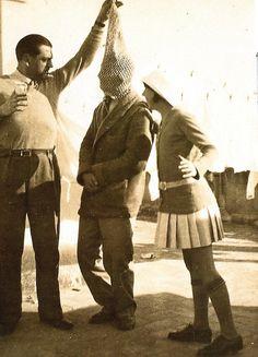 Luis Buñuel, Salvador Dali, and (sister) Ana Maria Dali, circa 1929  …