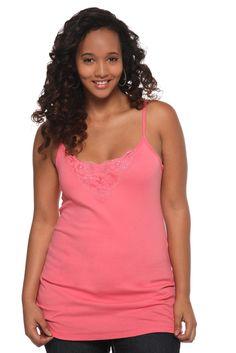 Torrid Plus Size Twist Tees - Pink Crochet Inset Tank Top #MyTorridSummer