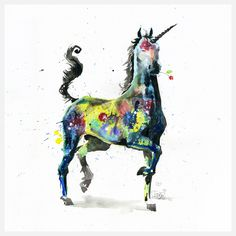 Unicorn by Lora Zombie - love the little flower in its mouth!