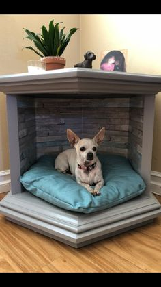 Custom Pet Bed End Table – Dog kennel indoor Animal Room, Niche Chat, Diy Bett, Bed End, End Table Dog Bed, Diy Dog Bed, Pet Beds Diy, Doggie Beds, Cool Dog Beds