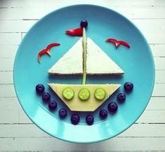 Barco - Segelschiff aus Obst und Gemüse