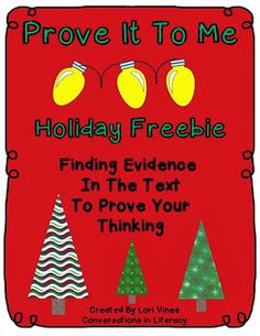 Prove It To Me- Holiday Freebie- using evidence from the text to prove your thinking