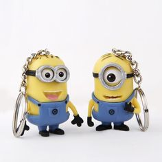 Ebuyingcity 2pcs Cartoon Despicable Me 3D Eye PVC Capsule Minions Keychain. Material: rubber, length about 6.5cm. Good quality, easy to bring with, good choice for gifts. popular and charming, very cute to bring with. Package will including 2pcs as the pic. shows.