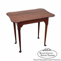 Eldred Wheeler Cherry Custom Crafted 18th Century Style Side Table #Traditional