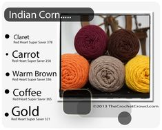 Red Heart Super Saver Color Mix: Indian Corn