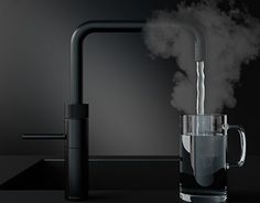 When only the best will do! The new Quooker fusion in black all ranges available from taylorscot Loft Kitchen, Hidden Kitchen, Kitchen Taps, Kitchen Hardware, Kitchen Interior, Kitchen Trends 2018, Bulthaup Kitchen, Interior Styling, Interior Decorating