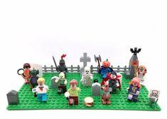 Scooby Doo Custom Graveyard Set Tombstones Made Using Lego Blocks Scooby Doo 1969, Luger Pistol, Pirates Cove, Lego Blocks, Custom Lego, Lego Moc, Baby Rattle, Lego Creations, Building Toys