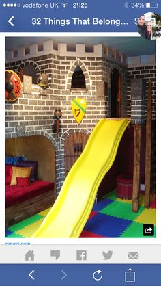 Castle Bed with Slide