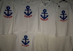 Personalized Cruise Shirts for the entire family from toddler to adult sizes