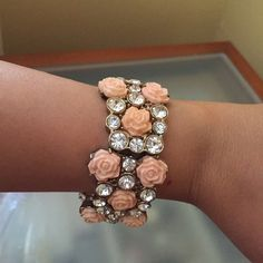 Floral bangle This floral bangle adds sparkle to any outfit Accessories