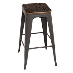 LumiSource Oregon Pub Stools - Set of 2 - BS-TW-OR DKE+AN2