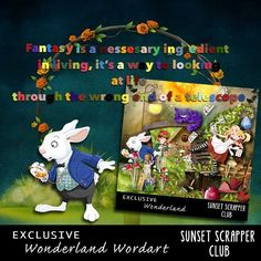 Wonderland Wordart - Digital Scrapbooking Kits for the Perfect Digital Scrapbook #printable #printables