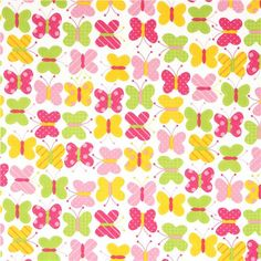 white fabric with butterflies by Robert Kaufman 2