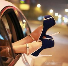Colorful Peep Toe Stiletto Heels Platform Pumps