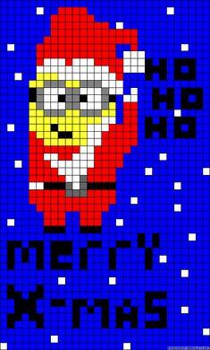 sandylandya.Merry Christmas Minion Santa perler bead pattern