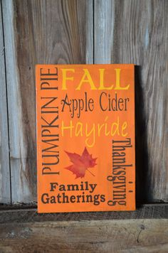 Items similar to Autumn/Fall/Thanksgiving Subway Art Wood Sign on Etsy Holiday Signs, Fall Signs, Vinyl Crafts, Wood Crafts, Wooden Projects, Pallet Projects, Fall Crafts, Holiday Crafts, Party Crafts