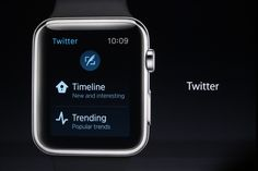 Homepage for the Twitter mobile application on Apple Watch