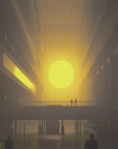 Olafur Eliasson's The Weather Project at the Tate Modern in 2003. The Turbine Hall has never been more beautiful, fascinating, eerie and relaxing.