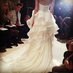Complete ruffled gorgeous from Reem Acra, via our Instagram feed #weddings