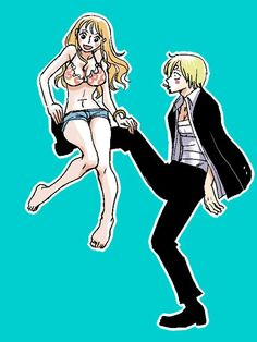 Nami and Sanji Zoro Nami, Sanji Vinsmoke, Nami One Piece, One Piece Ship, Sunny Go, Best Anime Couples, Best Animes Ever, Anime Lineart, Anime Merchandise
