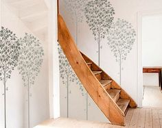 STENCIL for Walls - LINDEN Tree - Large, Reusable Wall Stencil - 5 ft. tall. $69.95, via Etsy.