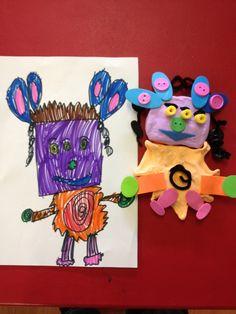 creature creations- kindergarten class