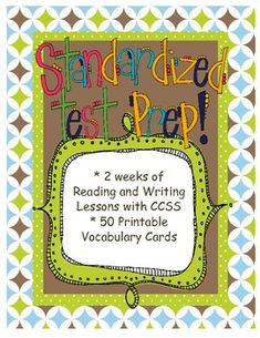 This is a two-week unit of study on preparing for standardized testing.  There are 20 mini lessons for both the reader's and writer's workshops.  Descriptive details and class chart examples are included for every lesson.  There are also 25 vocabulary study cards and 25 vocabulary practice cards available.  Give your students purpose and time to prepare for those tests we all love so much:)