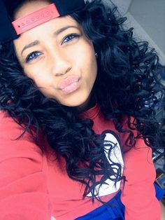 Exquisite mixed race honeys pinterest coloring beauty and curly hair drawing - Mixed girl swag ...