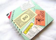 Monopoly game board journal notebook or by TheCreatorsDaughter