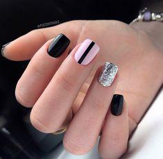 Pin by Маргарита on in 2019 Jade Nails, Pink Nails, Gel Shellac Nails, Nail Polish, Solid Color Nails, Nail Colors, Hair And Nails, My Nails, Unicorn Nails