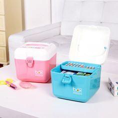 Home Portable Large Medical Kit Storage Box Drug Medicine Pill Jewelry Box Case Holder Storage Organizer Box Bin Container