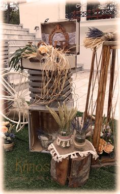 boho rustic διακοσμηση γαμου Trendy Wedding, Boho Wedding, Rustic Wedding, Wedding Ideas, Sweet Corner, Baptism Ideas, Woodland Party, Garden Styles, Christening