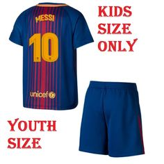 Buy Shamyaan Messi Jersey 2017 - 2018 - Barcelona FCB Home  10 Jersey kit  for Kids - Youth Sizes for Boys   Girls - New Latest Season 2017 18 FCB  Home ... 91d668919