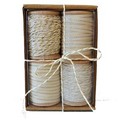 Gift Wrap Kit with Metallic Ribbon and Twine from Wrap and Revel