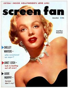 Marilyn Monroe on the cover of Screen Fan magazine, December 1952, USA.